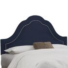 Brunella Arch Inset Nail Button Upholstered Panel Headboard Size: California King, Upholstery: Eclipse