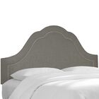 Dormody Nail Button Upholstered Panel Headboard Color: Gray, Size: King