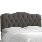 Roselare Tufted Upholstered Panel Headboard Upholstery: Charcoal, Size: Queen