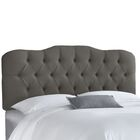 Hassan Upholstered Panel Headboard Size: California King, Upholstery: Grey