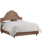 Amaker Upholstered Panel Bed Size: King, Color: Velvet - Cocoa