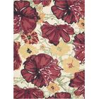 Whitby Hand-Tufted Wool Ivory/Red Area Rug Rug Size: Rectangle 4' x 6'