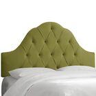 Hoddesdon Tufted Velvet Upholstered Panel Headboard Size: Full, Upholstery: Applegreen