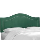Almanza Nail Button Upholstered Panel Headboard Upholstery: Sangria, Size: King