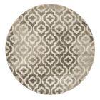 Roisin Gray/Ivory Area Rug Rug Size: Round 6'7