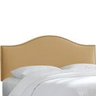 Brighton Nail Button Arc Upholstered Panel Headboard Size: Queen, Color: Honey