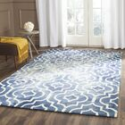 Berman Hand-Tufted Navy/Ivory Area Rug Rug Size: Rectangle 9' x 12'
