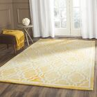 Hand-Tufted Wool Gold / Ivory Area Rug Rug Size: Rectangle 9' x 12'