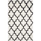 Eno Hand-Tufted Black/Ivory Area Rug Rug Size: Rectangle 5' x 8'
