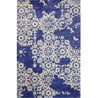 Chaudeville Hand-Tufted Navy Area Rug Rug Size: 5'6