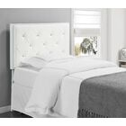 Upholstered Panel Headboard Size: Twin, Upholstery: White