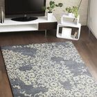 Lierre Hand-Tufted Grey Area Rug Rug Size: 5'6