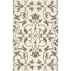 Rhona Hand-Tufted Ivory/Grey Area Rug Rug Size: Square 8'