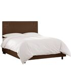 Diego Upholstered Panel Bed Size: Queen, Headboard Color: Chocolate