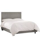 Diego Upholstered Panel Bed Size: Queen, Headboard Color: Gray
