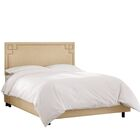 Diego Upholstered Panel Bed Size: Full, Headboard Color: Sandstone