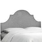 Brett Upholstered Panel Headboard Size: King, Upholstery Color: Cross Section Licorice