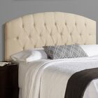 Sherburne Upholstered Panel Headboard Size: Queen, Upholstery: Ivory