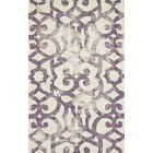 Alioth Violet/White Rug Rug Size: Rectangle 8' x 11'
