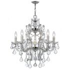 Griffiths 6-Light Candle Style Chandelier Finish: Polished Chrome, Crystal Grade: Standard