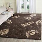 Flanery Dark Brown/Smoke Area Rug Rug Size: Rectangle 8'6