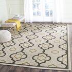 Malin Beige/Black Indoor/Outdoor Area Rug Rug Size: Rectangle 6'7