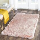 Anthony  Fur Pink Area Rug Rug Size: Rectangle 5' x 8'