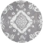 Bottesford Hand-Knotted Gray Area Rug Rug Size: Round 6'