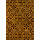 Gilda Gold/Yellow Floral Area Rug Rug Size: Rectangle 5' x 7'6