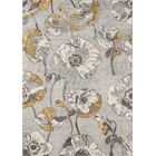Cherell Floral Gray Area Rug Rug Size: Rectangle 9'3