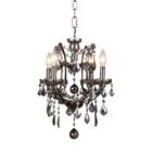 Newell 4-Light Candle Style Chandelier Shade Color: Clear, Finish: Rustic Intent
