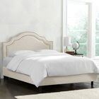 Deeanna Traditional Upholstered Panel Bed Body Color: Talc, Size: California King