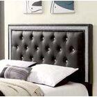Algol Upholstered Panel Headboard Size: Twin, Upholstery: Black