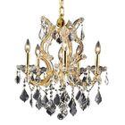 Regina 6-Light Candle Style Chandelier Finish / Crystal Finish / Crystal Trim: Chrome / Golden Teak  / Royal Cut