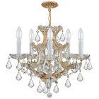 Milan 6-Light Crystal Chandelier Crystal Type: Swarovski Strass, Finish: Gold
