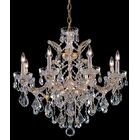 Milan 9-Light Candle Style Chandelier Finish/Crystal: Gold/Majestic Wood Polished