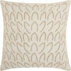 Sharonda Geometric Square Throw Pillow Color: Silver