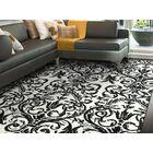 Josephine Ebony/White Area Rug Rug Size: Rectangle 8' x 11'