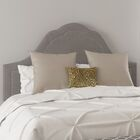 Gallant Upholstered Panel Bed Color: Twill White, Size: California King