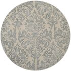 Mcguire Hand-Tufted Ivory/Silver Area Rug Rug Size: Round 5'