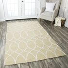 Jacobson Hand-Tufted Beige Area Rug Rug Size: Runner 2'6