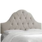 Davina Arched Upholstered Panel Headboard Upholstery: Light Gray, Size: Queen