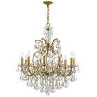 Maira 10-Light Candle Style Chandelier Finish: Antique Gold, Crystal Grade: Swarovski Elements