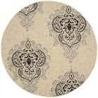 Mayer Fancy Cream Indoor/Outdoor Area Rug Rug Size: Round 6'7
