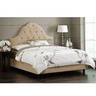 Socorro Upholstered Panel Bed Size: Twin, Color: Velvet - Buckwheat