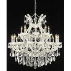 Regina 24-Light Candle Style Chandelier Finish / Crystal Finish / Crystal Trim: White / Crystal (Clear) / Elegant Cut