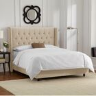 Florine Upholstered Panel Bed Size: California King, Color: Velvet - Pearl