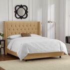 Florine Upholstered Panel Bed Color: Velvet - Honey, Size: California King