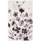 Rowley Regis Ivory/Purple Area Rug Rug Size: Rectangle 5'1