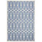 Janine Hand-Tufted Blue/Ivory Area Rug Rug Size: Rectangle 6' x 9'